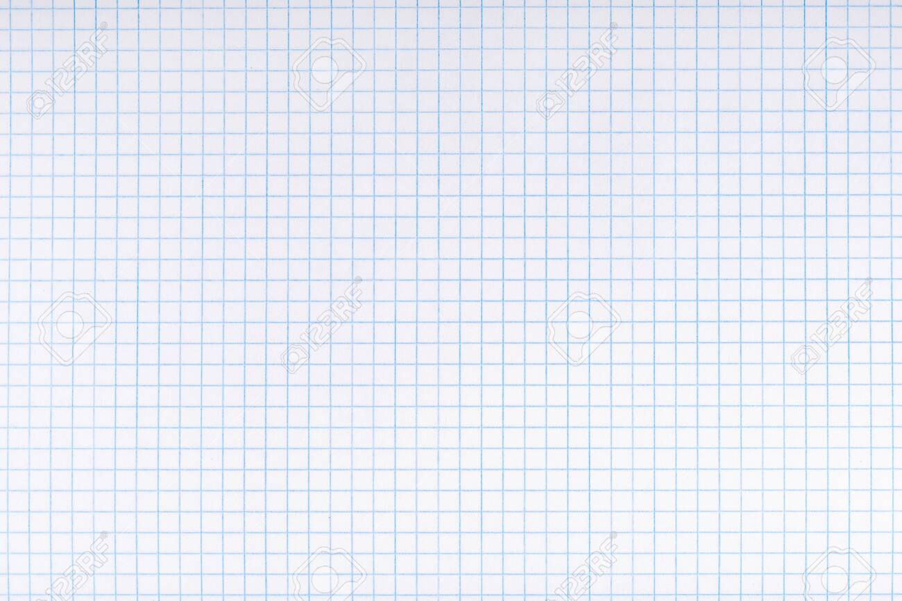 Exercise book paper page with squares, one page. Blank lined worksheet exercise book for math.